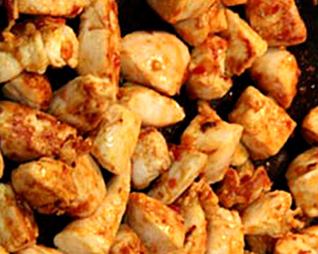обжареное филе курицы
