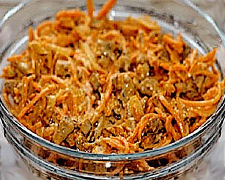 Салат из печени и моркови по корейски