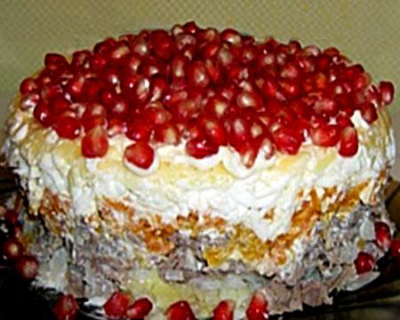 салат красная шапочка с говядиной рецепт