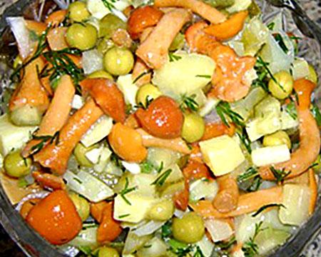 Горячий салат из опят — 1